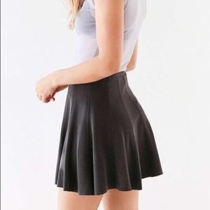 Spin City Skater Skirt Grey Mini Highwaisted